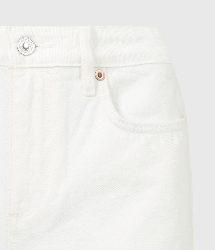 Women's Sandy Mid-Rise Denim Shorts (white) - Image 5