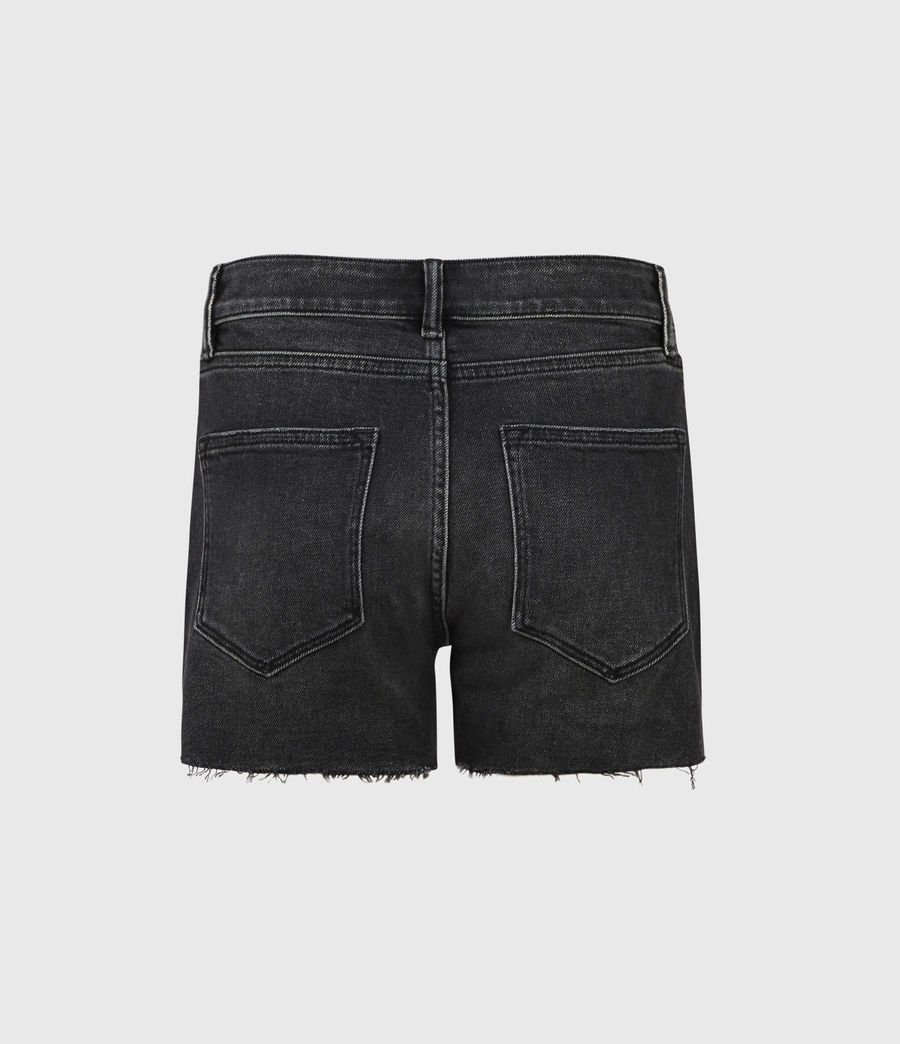 Womens Mera Cut Off Denim Shorts (washed_black) - Image 3