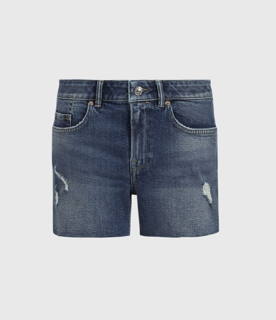 Womens Mera Cut Off Denim Shorts (dark_indigo) - Image 1