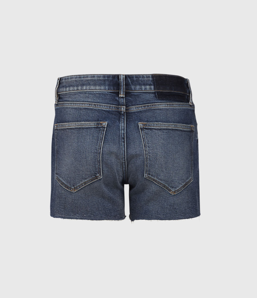 Womens Mera Cut Off Denim Shorts (dark_indigo) - Image 2