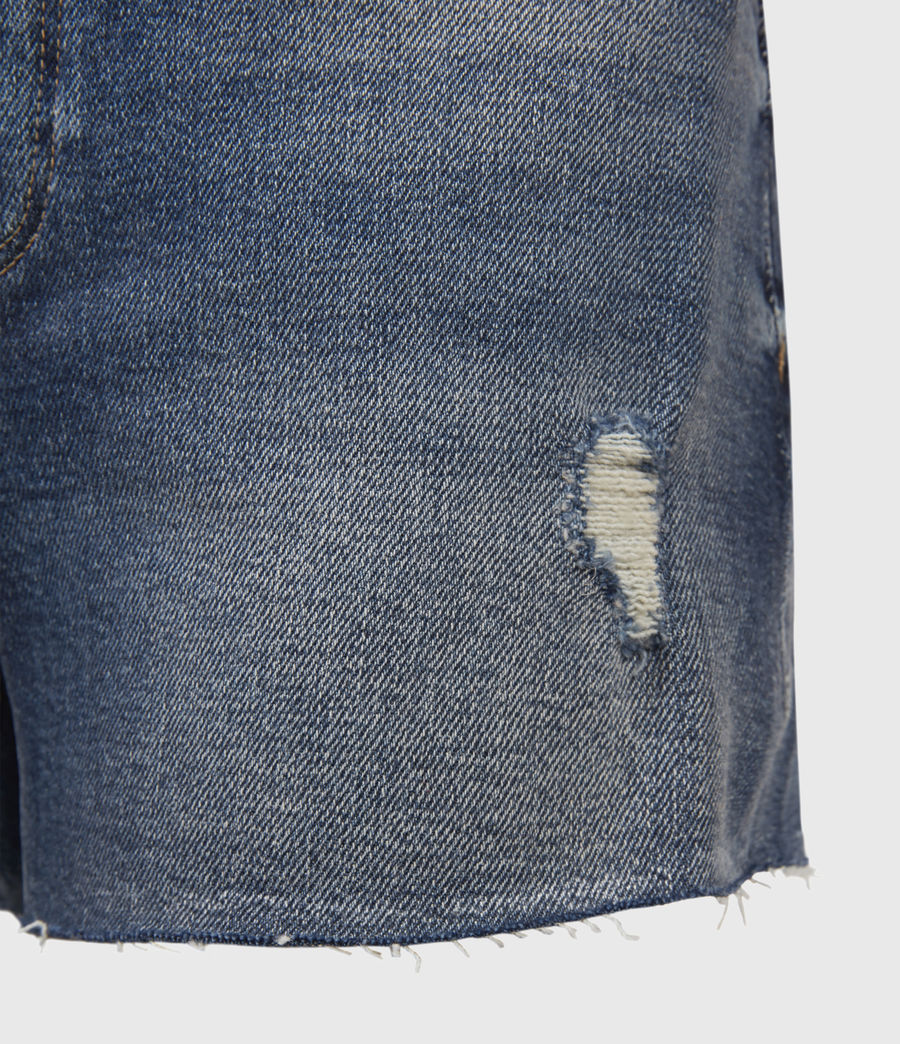 Womens Mera Cut Off Denim Shorts (dark_indigo) - Image 3