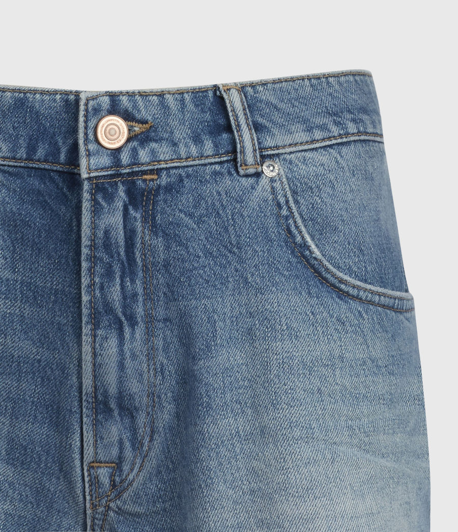 Women's Winnie Cut Off High-Rise Denim Shorts (mid_indigo) - Image 4