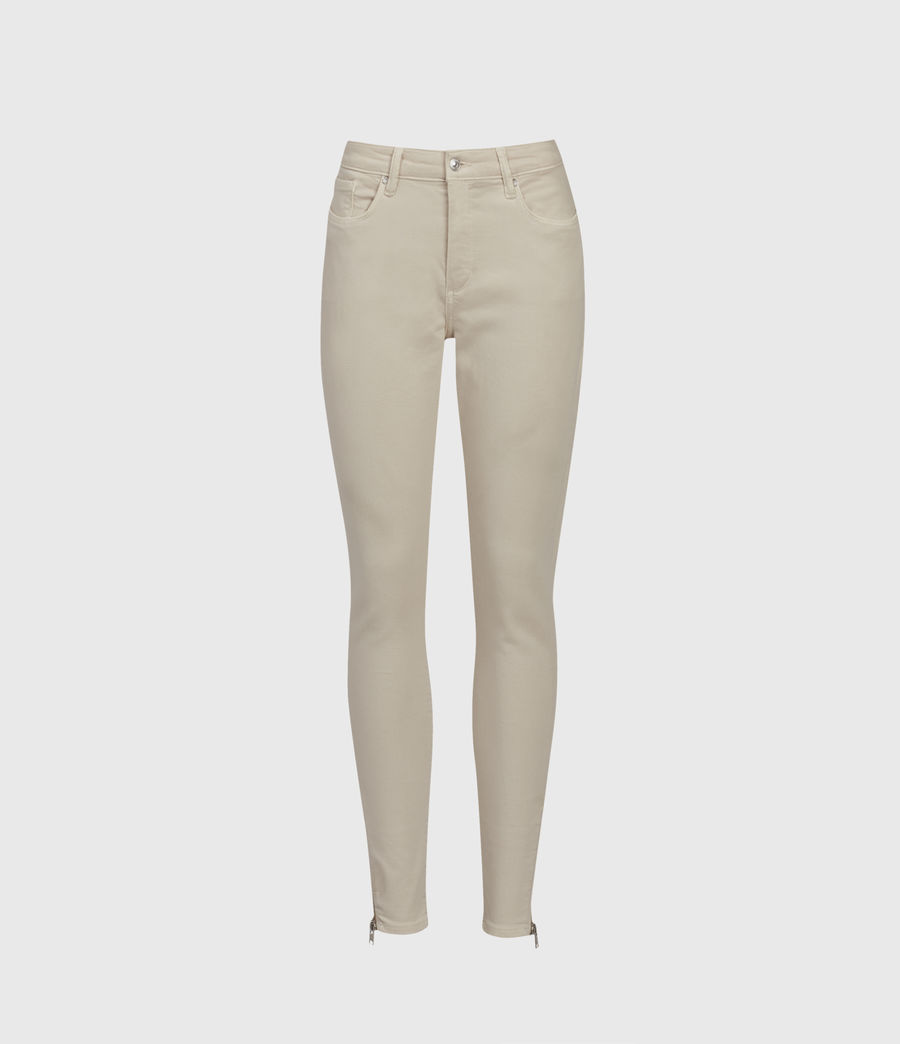 Womens Miller Mid-Rise Superstretch Skinny Jeans, Cream (cream) - Image 1