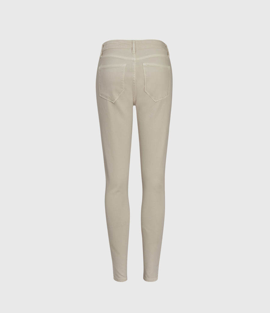 Womens Miller Mid-Rise Superstretch Skinny Jeans, Cream (cream) - Image 2