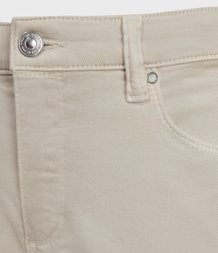 Womens Miller Mid-Rise Superstretch Skinny Jeans, Cream (cream) - Image 3