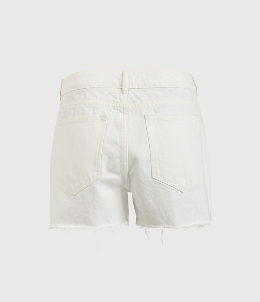 Donne Serene Mid-Rise Denim Shorts (white) - Image 3