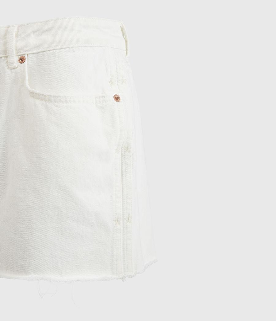 Women's Serene Mid-Rise Denim Shorts (white) - Image 4