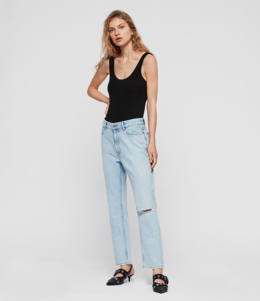 Womens Marley Boyfriend High-Rise Ripped Jeans, Sky Blue (sky_blue) - Image 3