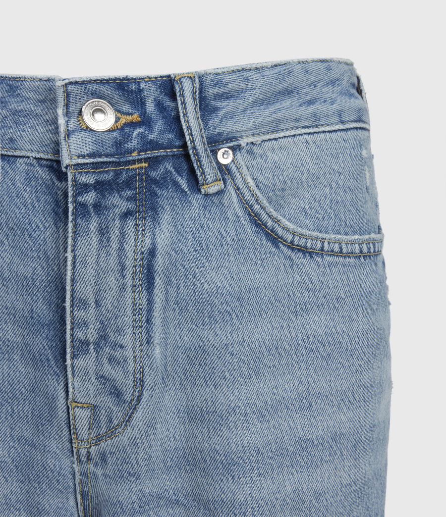 Women's Barry Long Denim Shorts (light_indigo) - Image 5