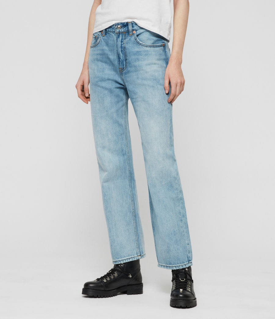 Women's Gem High-Waisted Boyfriend Jeans (light_indigo_blue) - Image 2