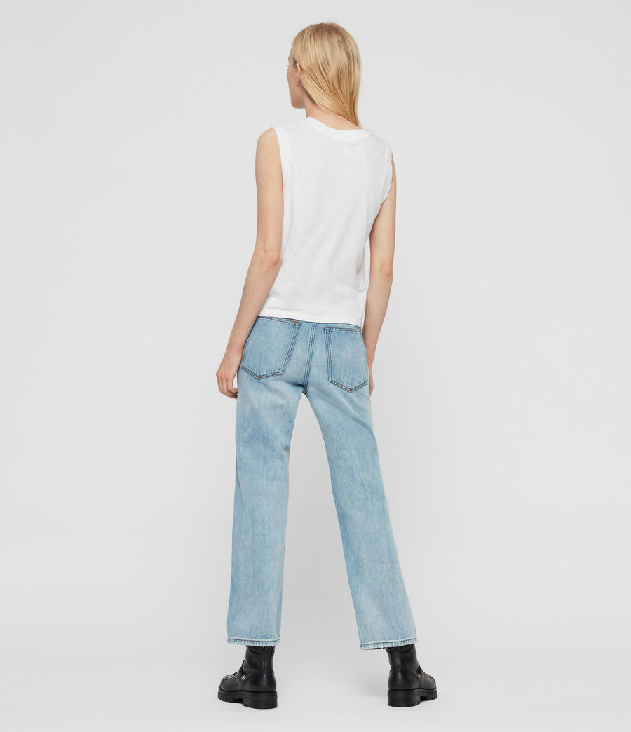 Women's Gem High-Waisted Boyfriend Jeans (light_indigo_blue) - Image 5
