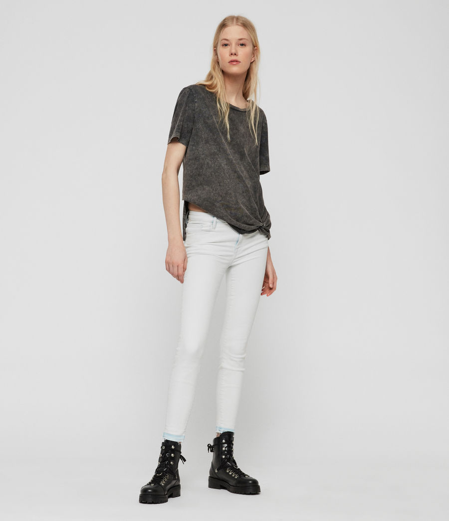 Womens Grace Cropped Skinny Mid-Rise Jeans, Bleach Indigo Blue (bleach_indigo_blue) - Image 3