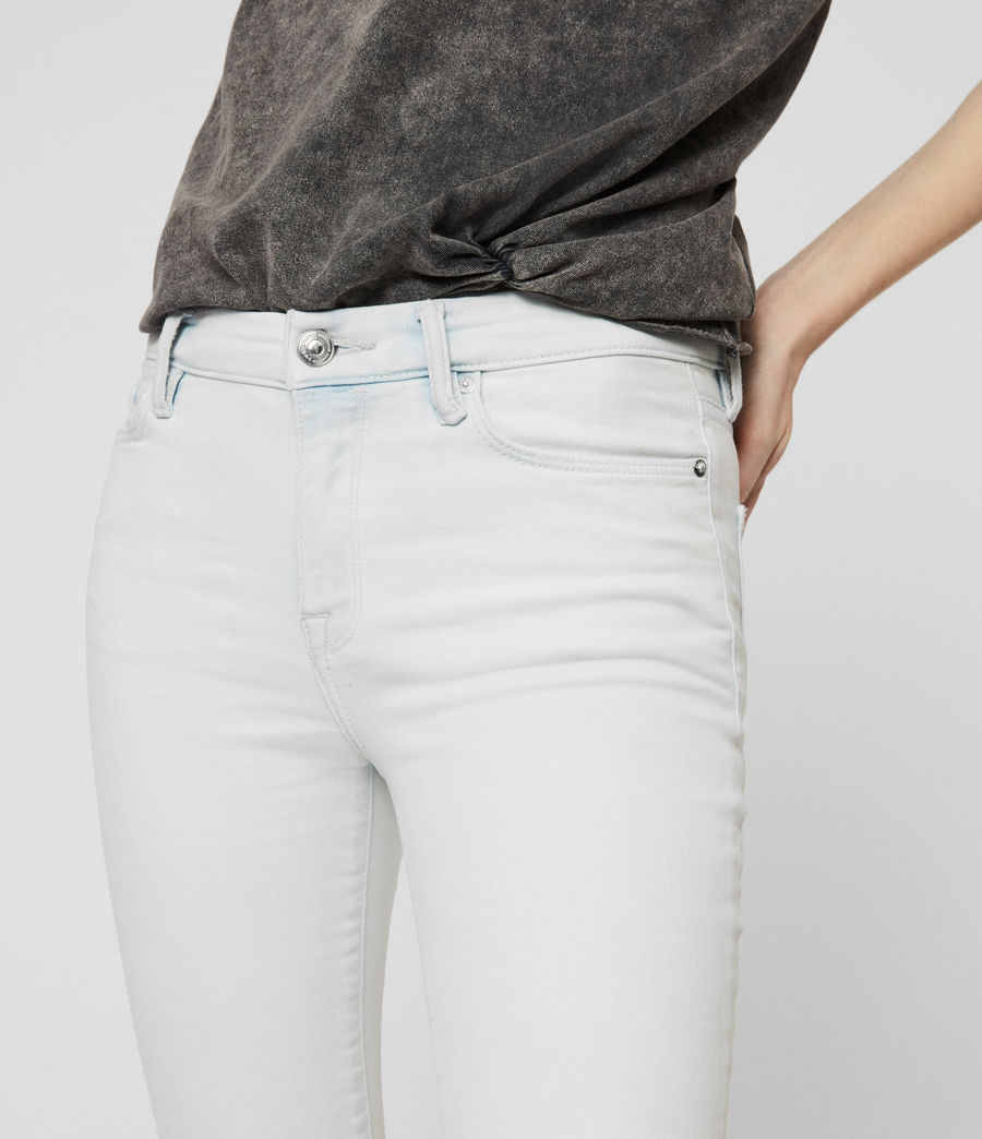 Womens Grace Cropped Skinny Mid-Rise Jeans, Bleach Indigo Blue (bleach_indigo_blue) - Image 4
