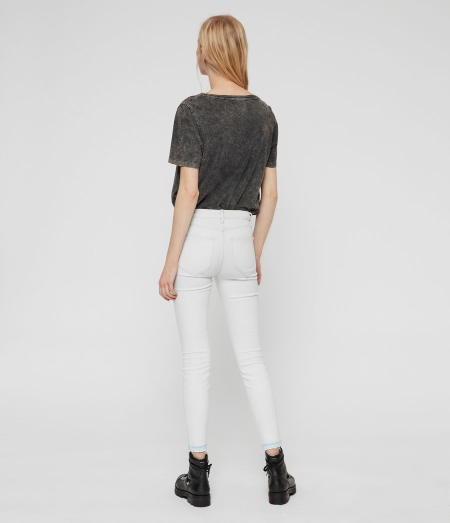 Womens Grace Cropped Skinny Mid-Rise Jeans, Bleach Indigo Blue (bleach_indigo_blue) - Image 5