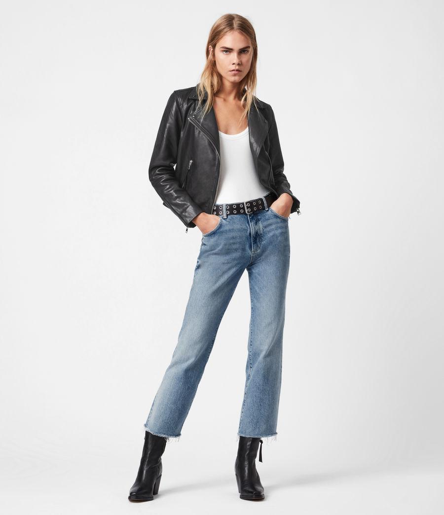 Women's Daisy High-Rise Kick Flare Jeans, Mid Indigo (mid_indigo) - Image 1