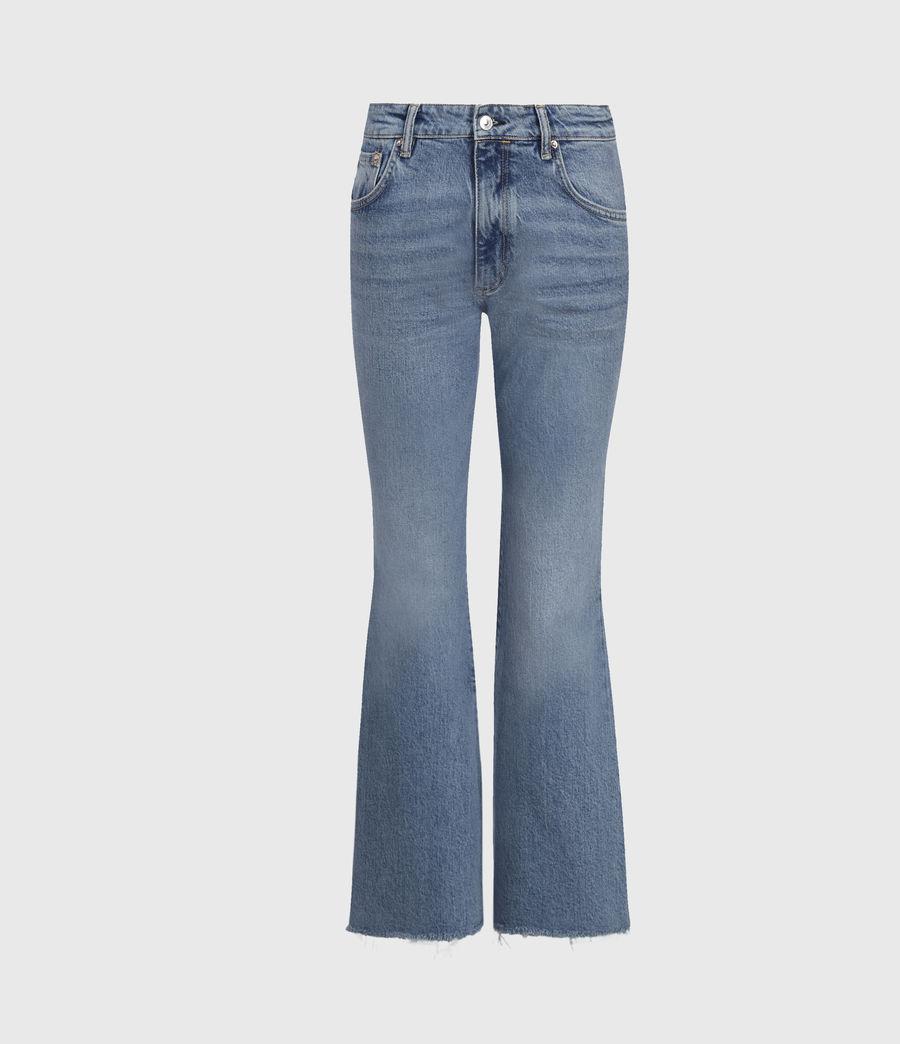 Women's Daisy High-Rise Kick Flare Jeans, Mid Indigo (mid_indigo) - Image 2