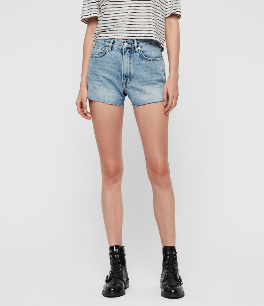 Women's Paula High-Rise Denim Shorts (light_indigo_blue) - Image 1