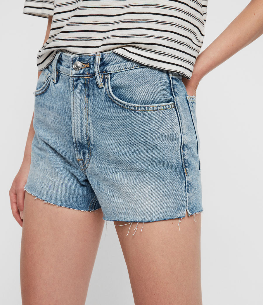 Women's Paula High-Rise Denim Shorts (light_indigo_blue) - Image 2