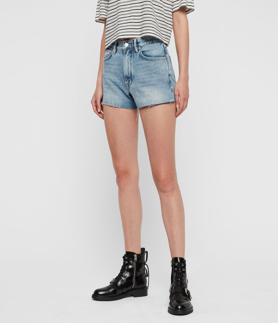 Women's Paula High-Rise Denim Shorts (light_indigo_blue) - Image 4
