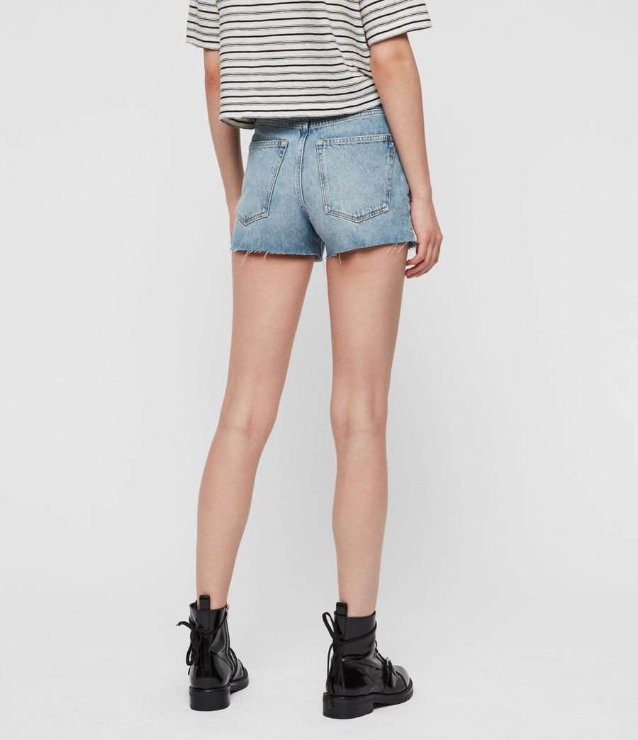 Women's Paula High-Rise Denim Shorts (light_indigo_blue) - Image 5