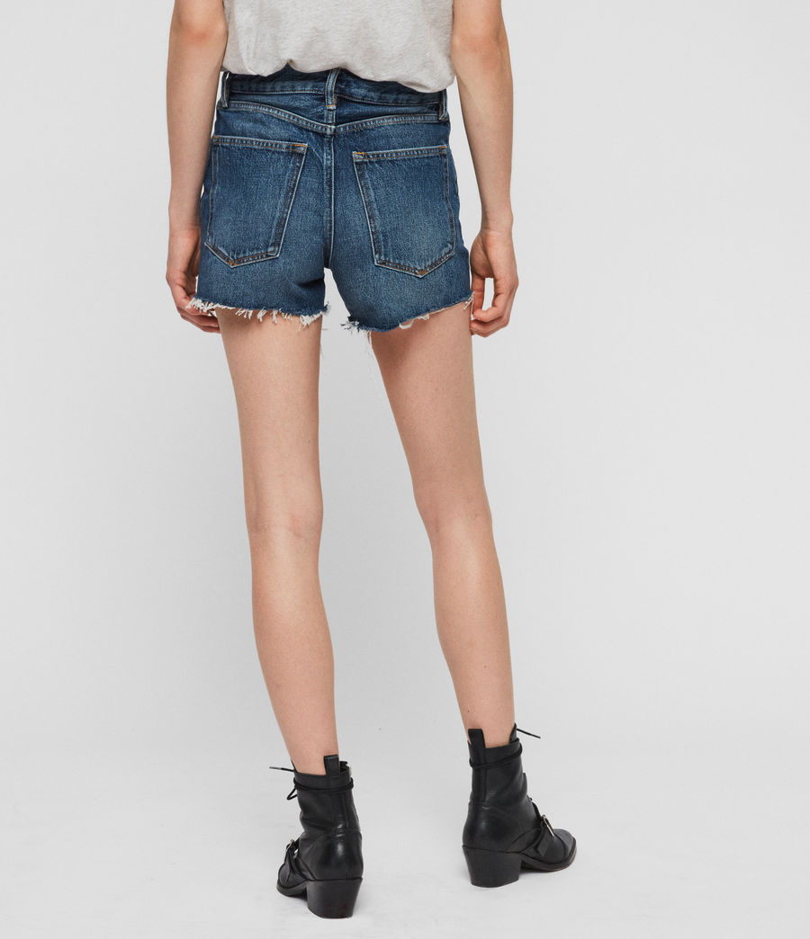 Women's Paula High-Rise Denim Shorts (light_indigo_blue) - Image 6