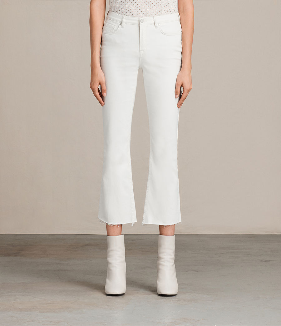 Womens Zoe Cropped Bootcut Jeans (white) - Image 1