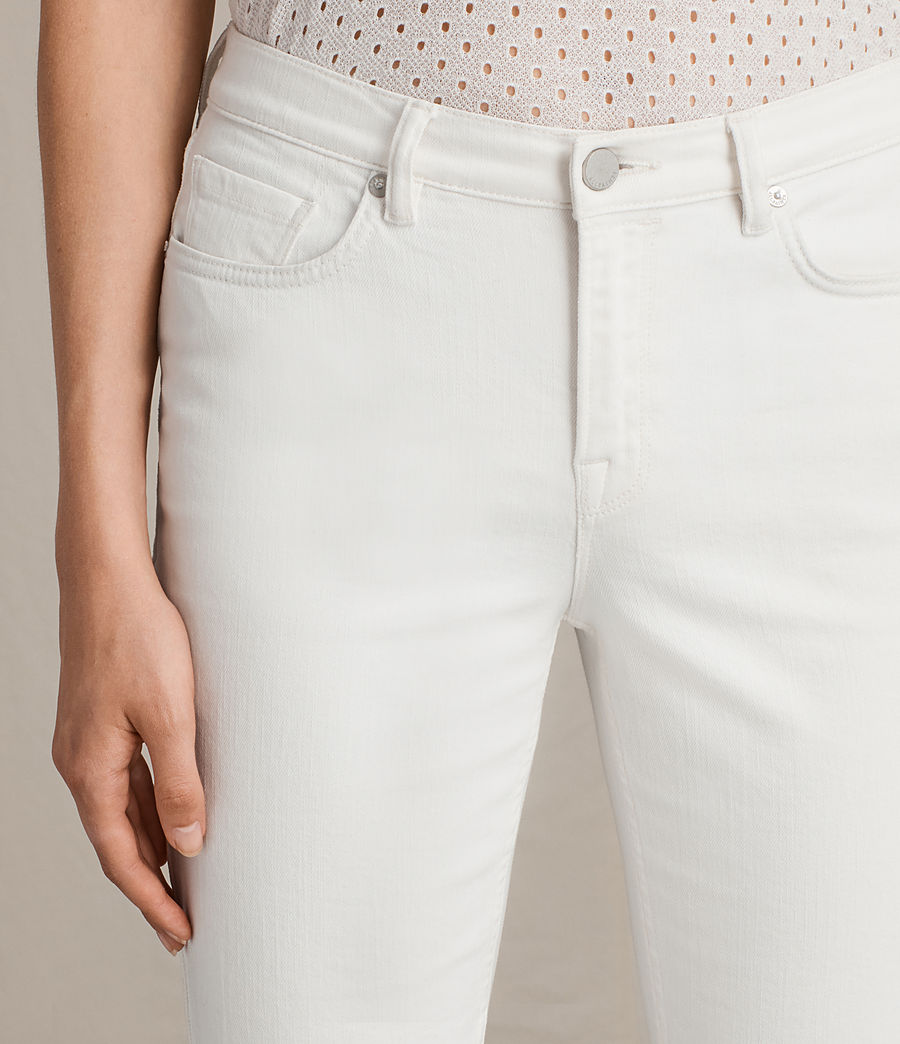 Womens Zoe Cropped Bootcut Jeans (white) - Image 2