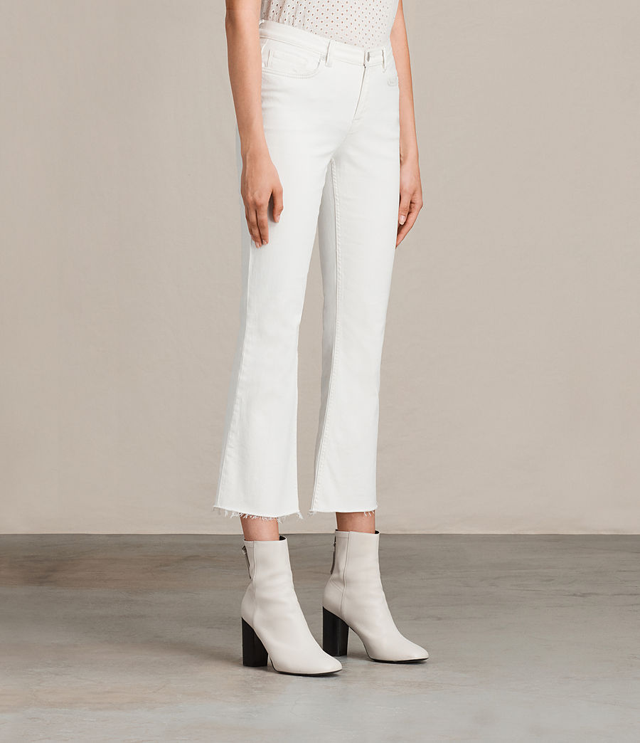 Womens Zoe Cropped Bootcut Jeans (white) - Image 3