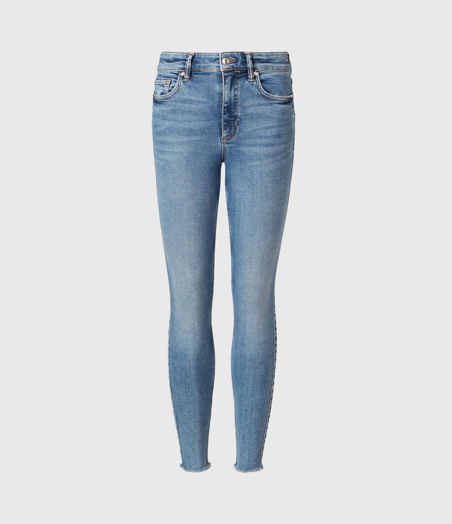 Womens Dax High-Rise Stretch Skinny Jeans, Indigo (mid_indigo) - Image 2