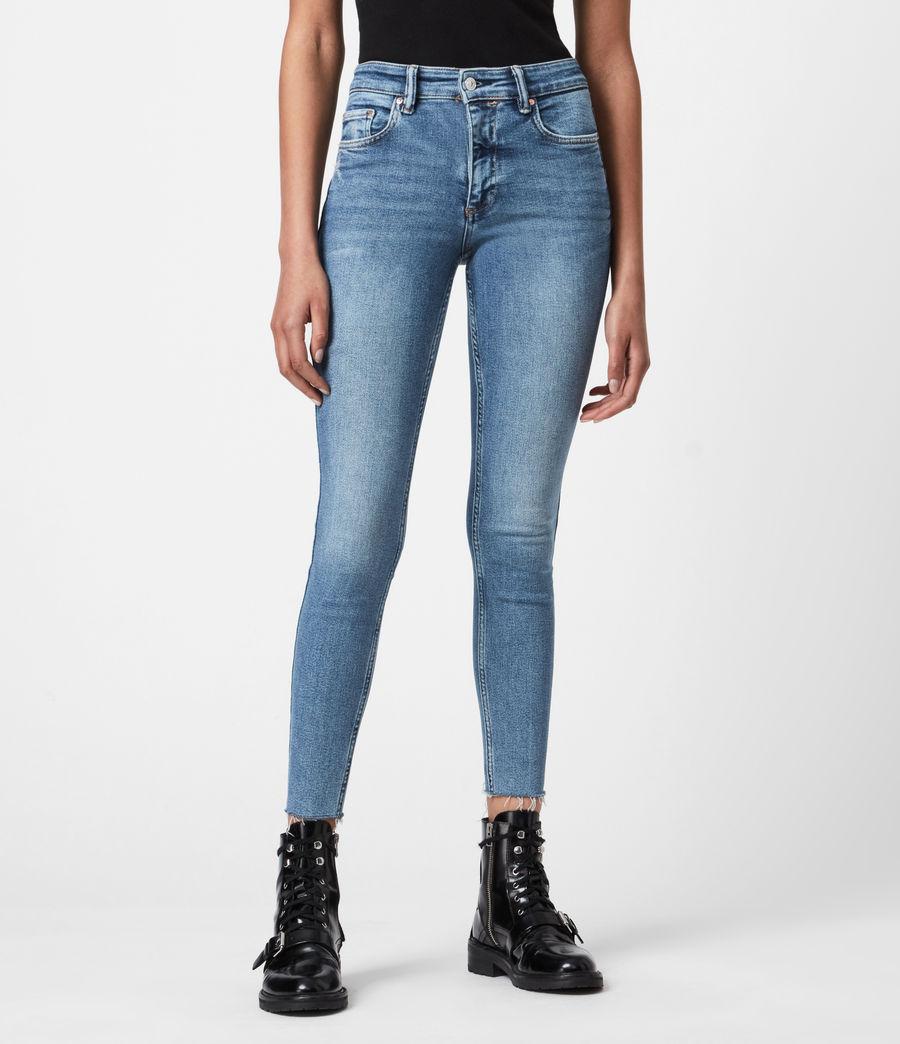 Womens Dax High-Rise Stretch Skinny Jeans, Indigo (mid_indigo) - Image 4
