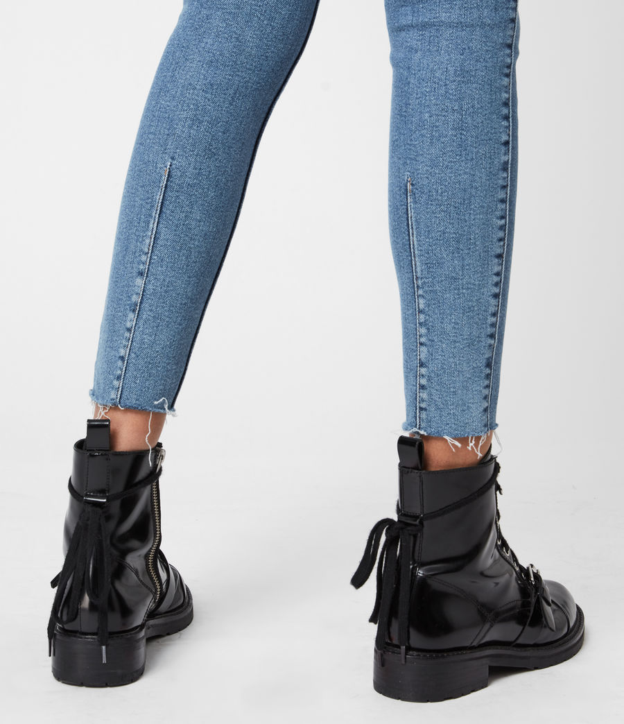 Womens Dax High-Rise Stretch Skinny Jeans, Indigo (mid_indigo) - Image 7