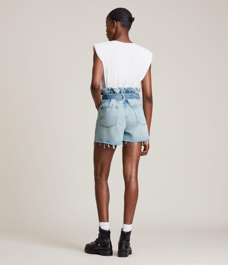 Femmes Hannah Paperbag Denim Shorts (mid_indigo) - Image 4