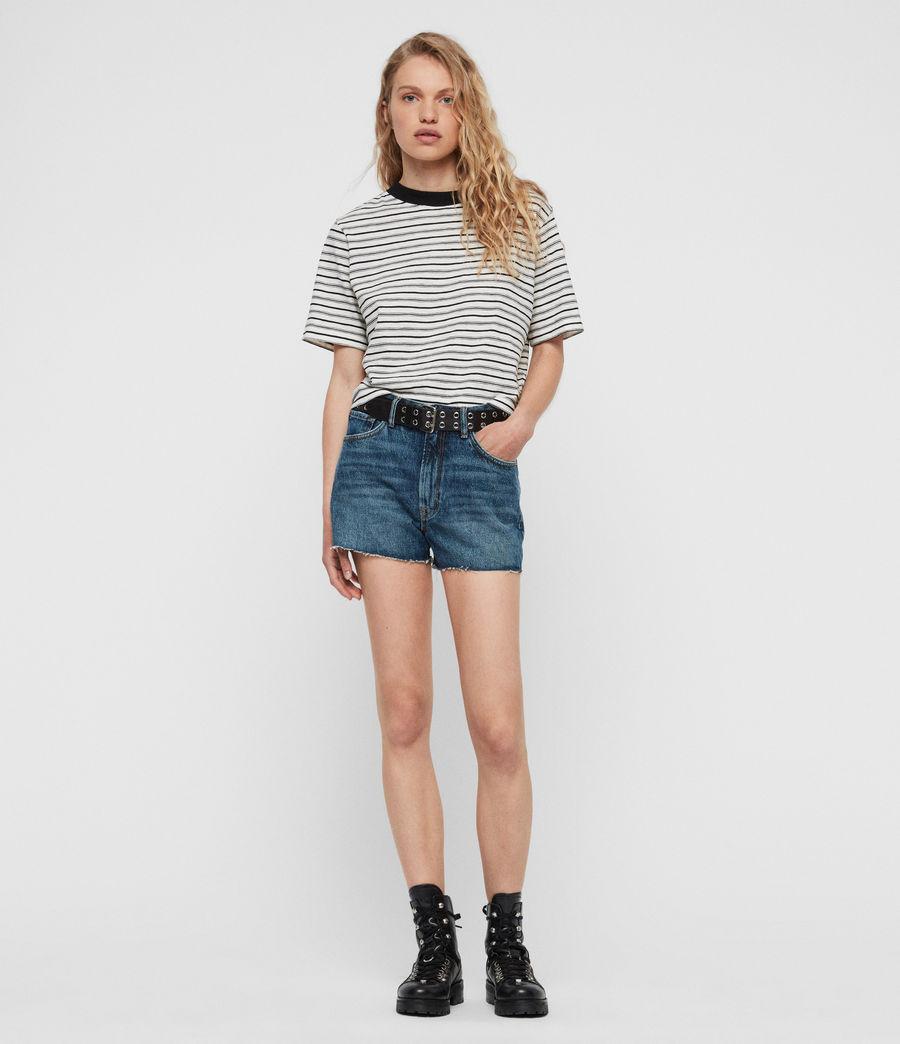 Womens Paula High-Rise Denim Shorts (dark_indigo_blue) - Image 5