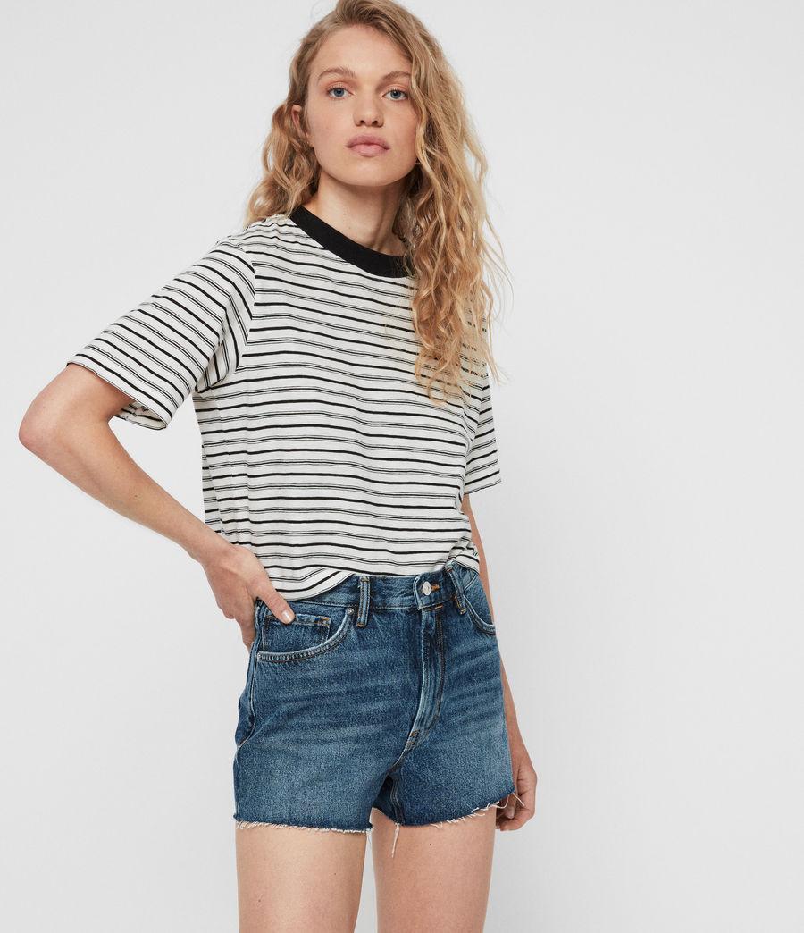Womens Paula High-Rise Denim Shorts (dark_indigo_blue) - Image 6