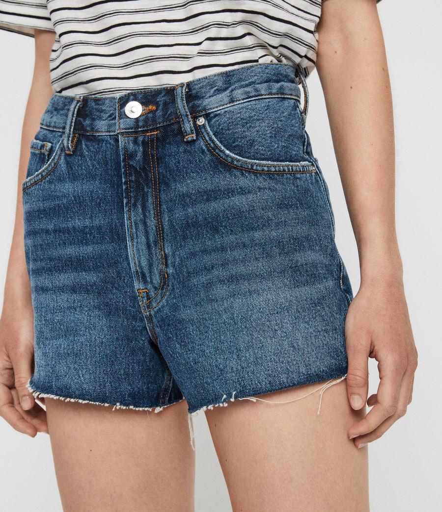 Womens Paula High-Rise Denim Shorts (dark_indigo_blue) - Image 1