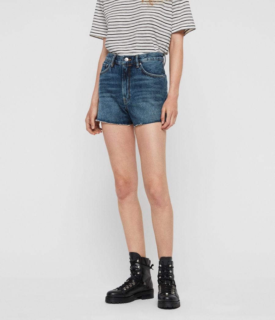 Womens Paula High-Rise Denim Shorts (dark_indigo_blue) - Image 2
