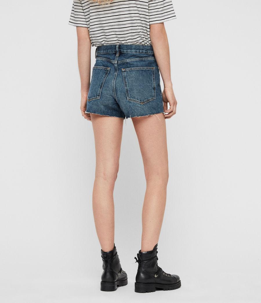 Womens Paula High-Rise Denim Shorts (dark_indigo_blue) - Image 3