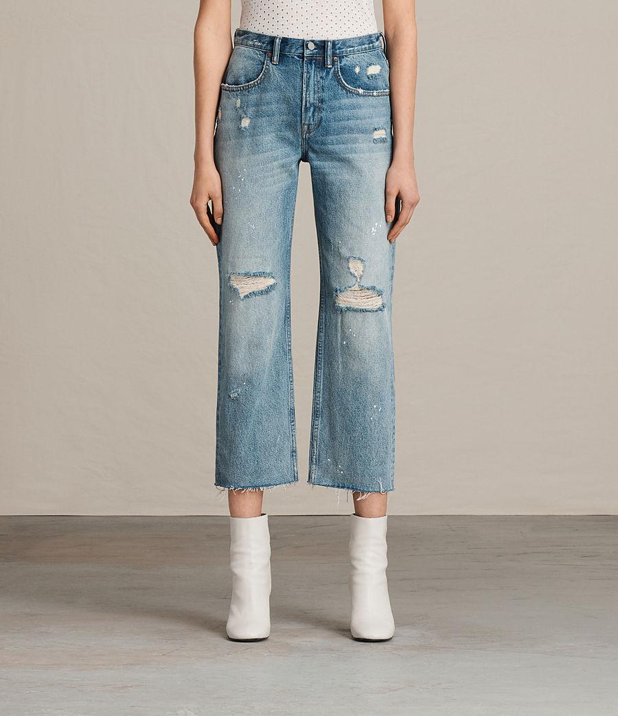 Womens Mazzy Destroys Jeans (mid_indigo_blue) - Image 1