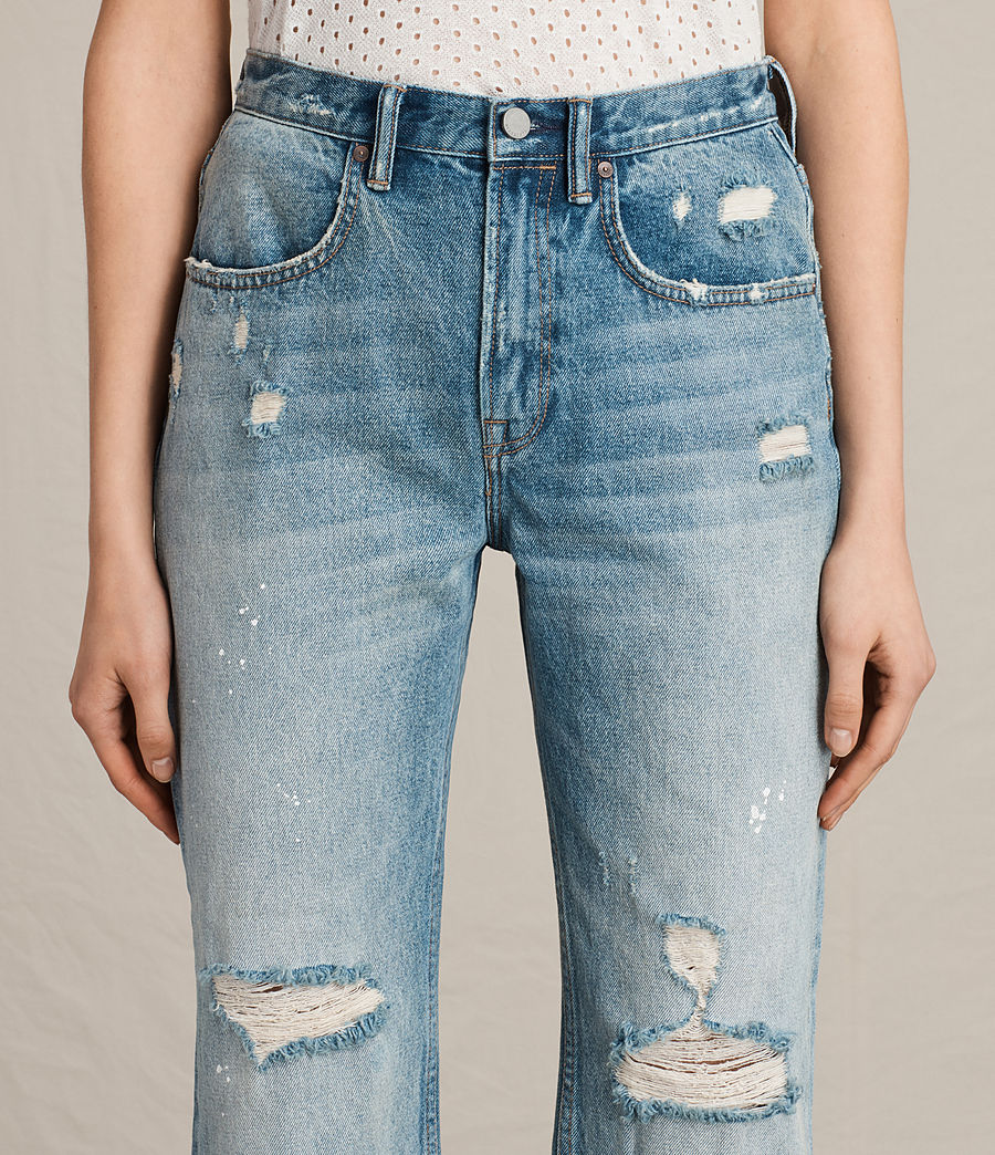 Womens Mazzy Destroys Jeans (mid_indigo_blue) - Image 2