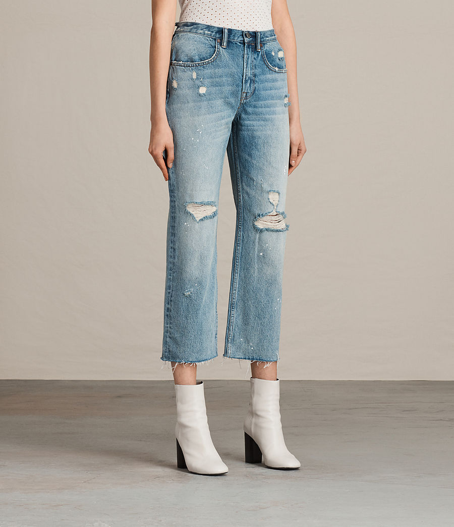 Womens Mazzy Destroys Jeans (mid_indigo_blue) - Image 3