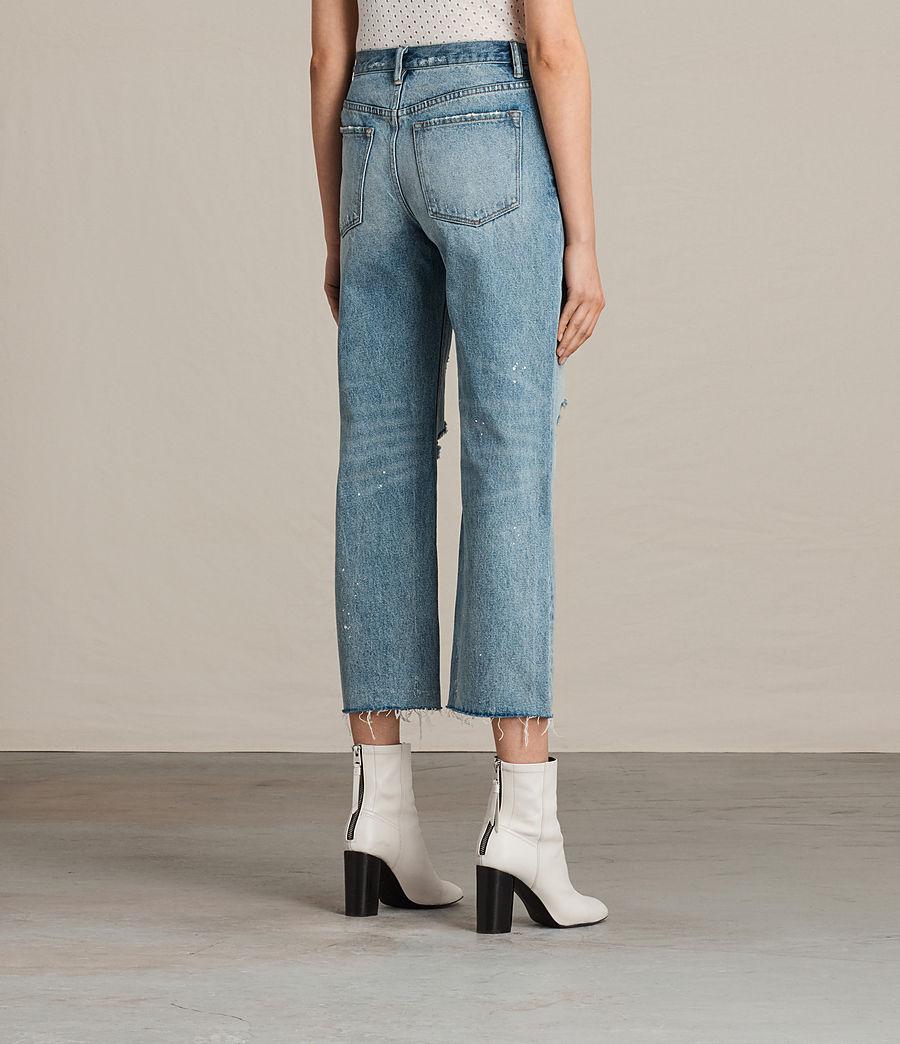 Womens Mazzy Destroys Jeans (mid_indigo_blue) - Image 4