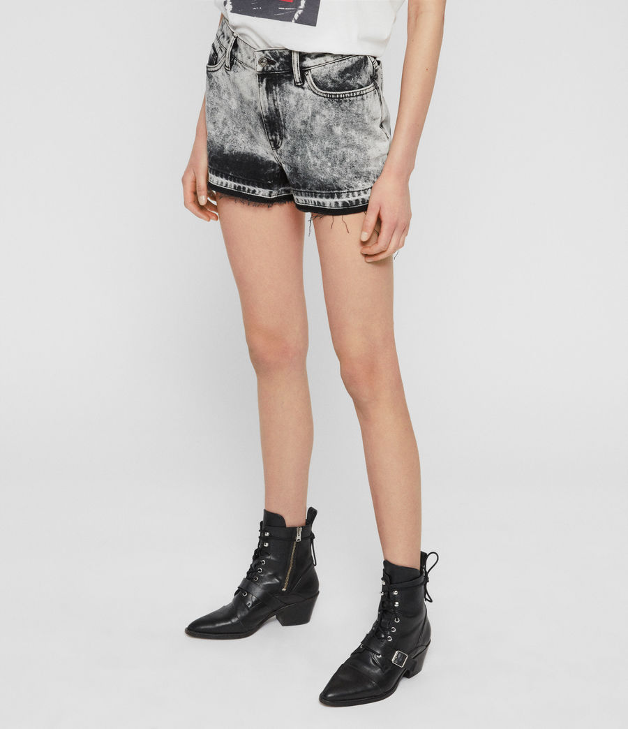 Women's Blake Low-Rise Denim Shorts (acid_washed_black) - Image 2