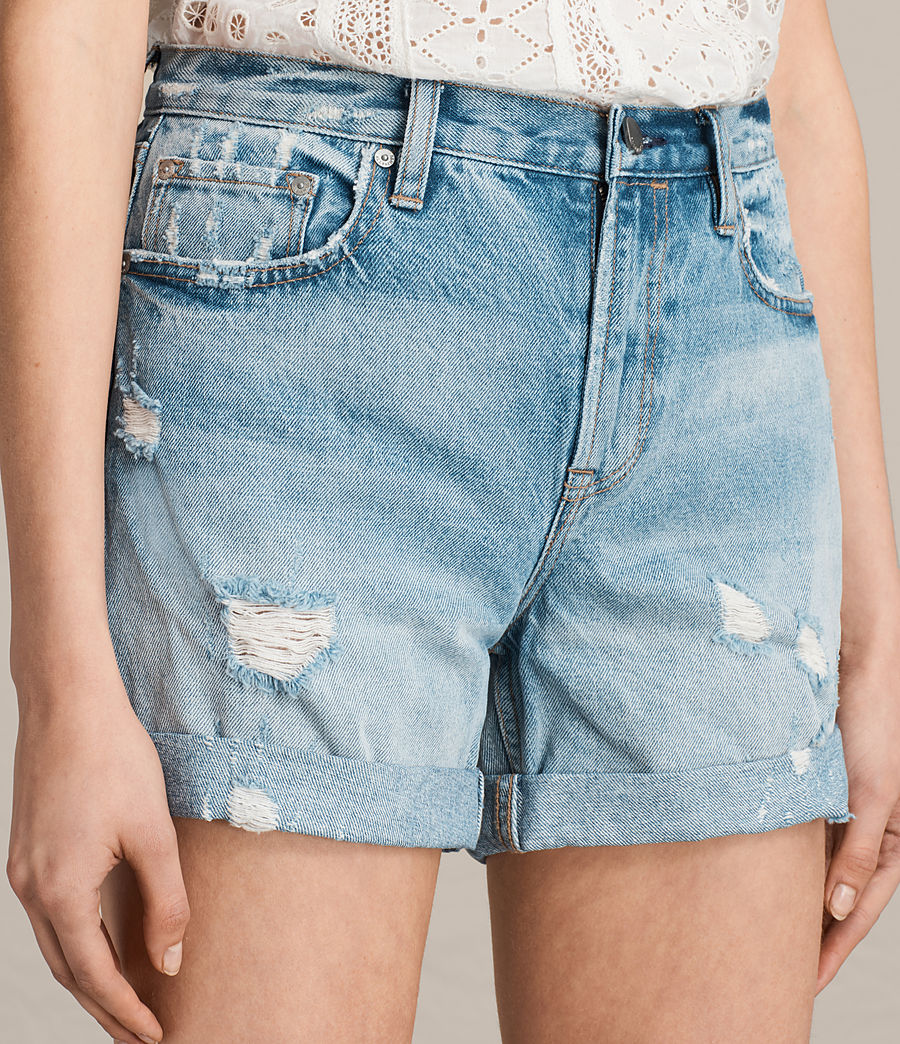 Damen Olivia Denim Shorts (mid_indigo_blue) - Image 2