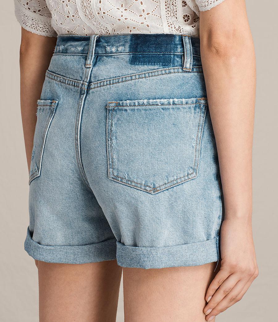 Damen Olivia Denim Shorts (mid_indigo_blue) - Image 4