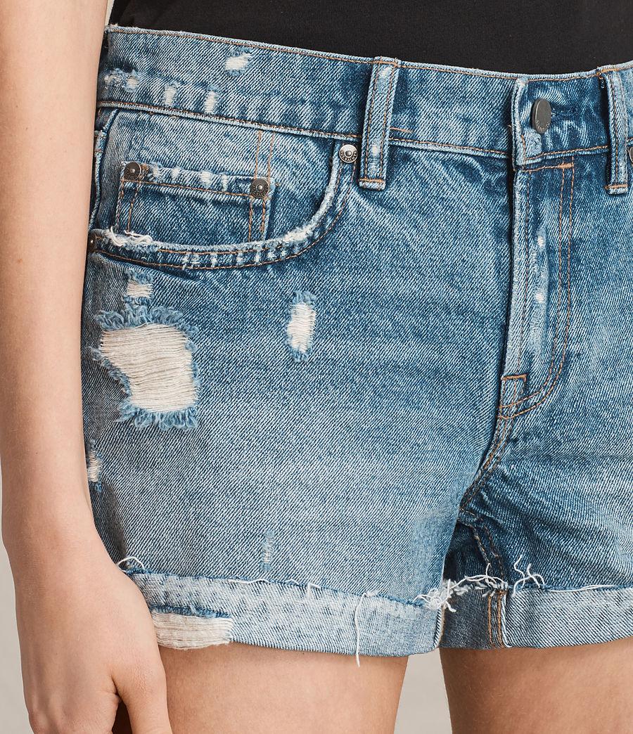 Women's Pam Low-Rise Denim Shorts (indigo_blue) - Image 2