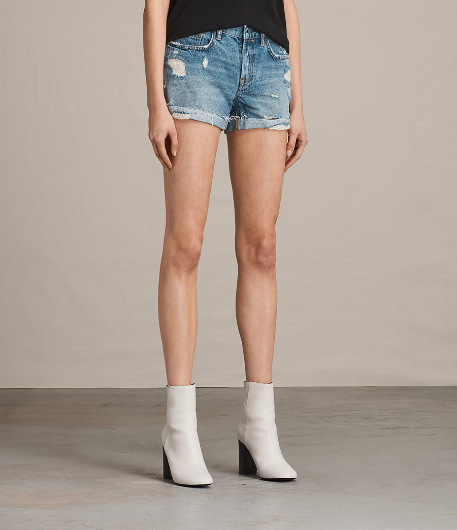 Women's Pam Low-Rise Denim Shorts (indigo_blue) - Image 3