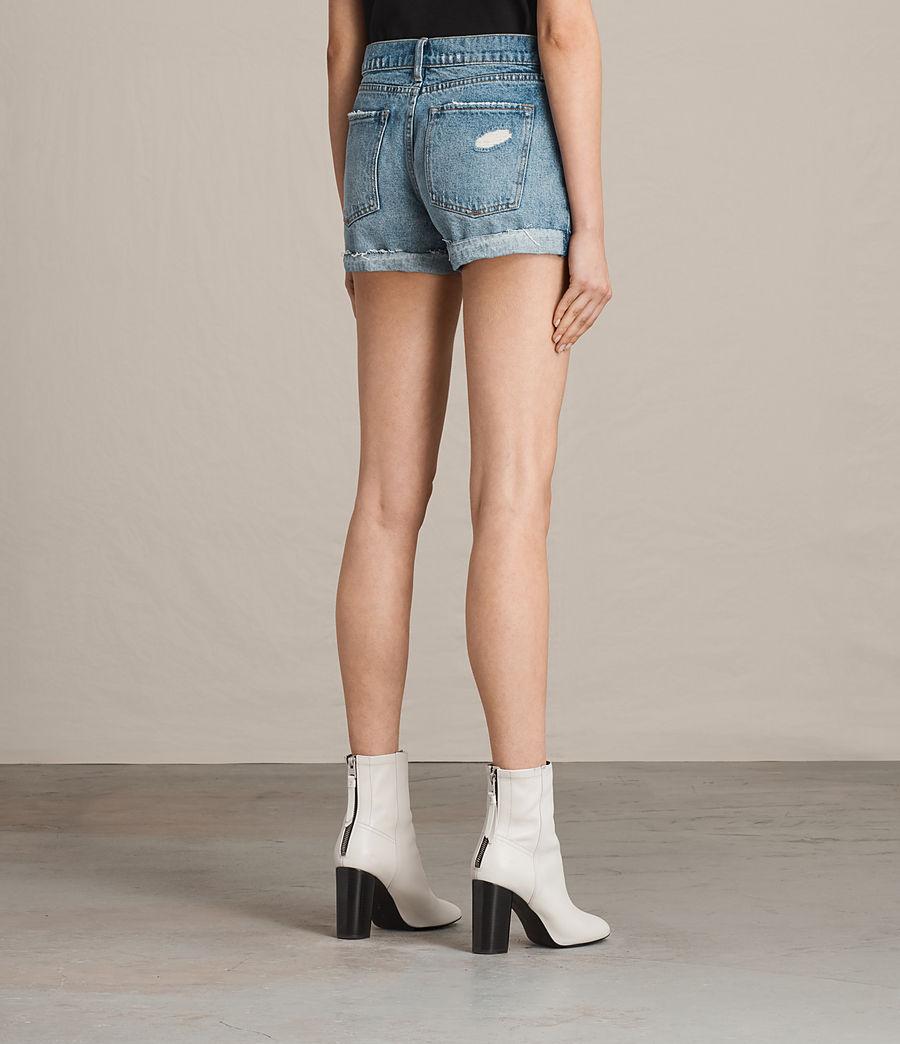 Women's Pam Low-Rise Denim Shorts (indigo_blue) - Image 4