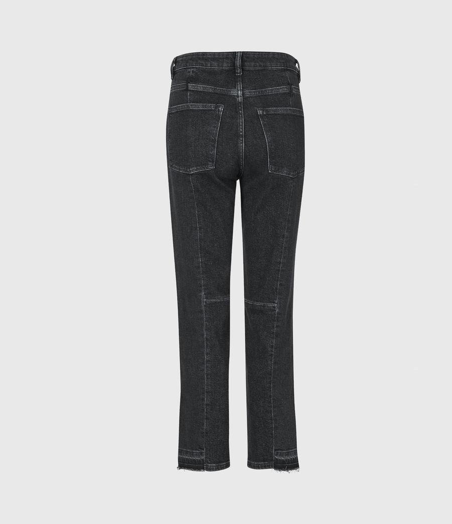 Women's Kim Two-Tone High-Rise Slim Jeans, Black (black) - Image 3