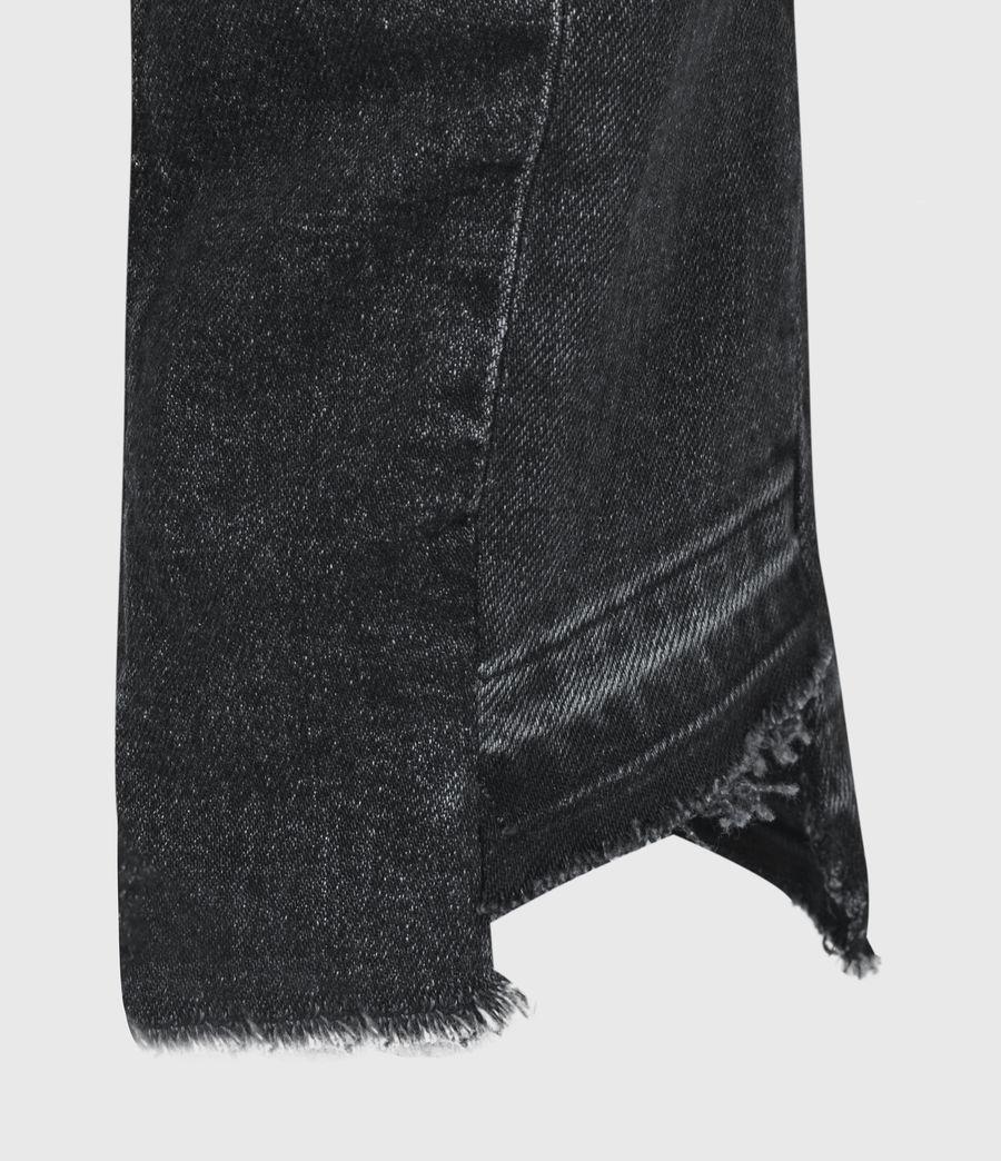 Women's Kim Two-Tone High-Rise Slim Jeans, Black (black) - Image 6