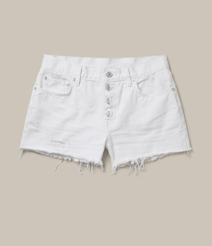 Women's Button Boy Shorts (white) - Image 2